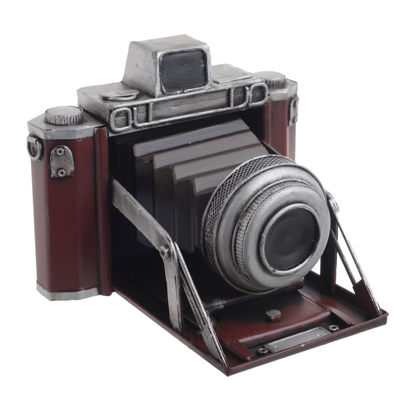 ΜΕΤΑΛΛΙΚΕΣ ΑΝΤΙΚΕΣ-ΚΑΒΕΣ ΠΟΤΩΝ INART Φωτογραφική μηχανή μινιατούρα σε καφέ/ μπορντώ χρώμα