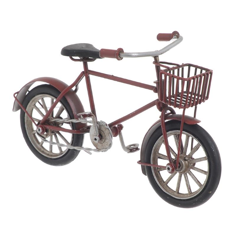 ΜΕΤΑΛΛΙΚΕΣ ΑΝΤΙΚΕΣ-ΚΑΒΕΣ ΠΟΤΩΝ INART Μινιατούρα Μεταλλική ποδηλατο κοκκινο Διαστάσεις (ΜΠΥ)16.5εκ x 5.5εκ x 9εκ