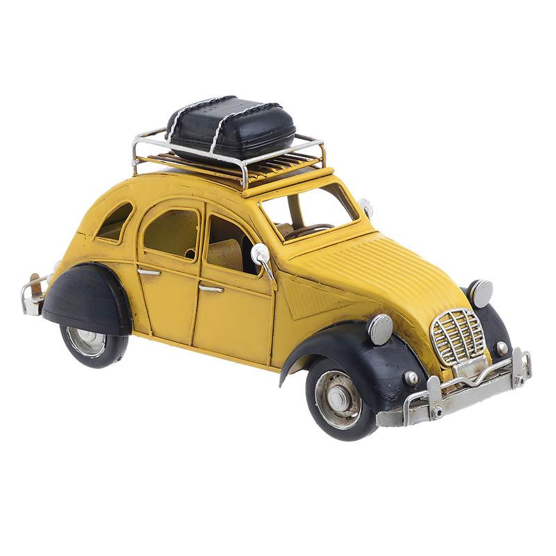 INART Μεταλλικό Διακοσμητικό αυτοκινητο κιτρινο Διαστάσεις (ΜΠΥ)26εκ x 11.5εκ x 13εκ