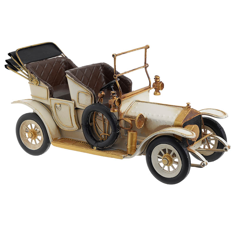 INART Μεταλλικό Διακοσμητικό αυτοκινητο εκρου χρυσο Διαστάσεις (ΜΠΥ)37εκ x 14εκ x 18εκ