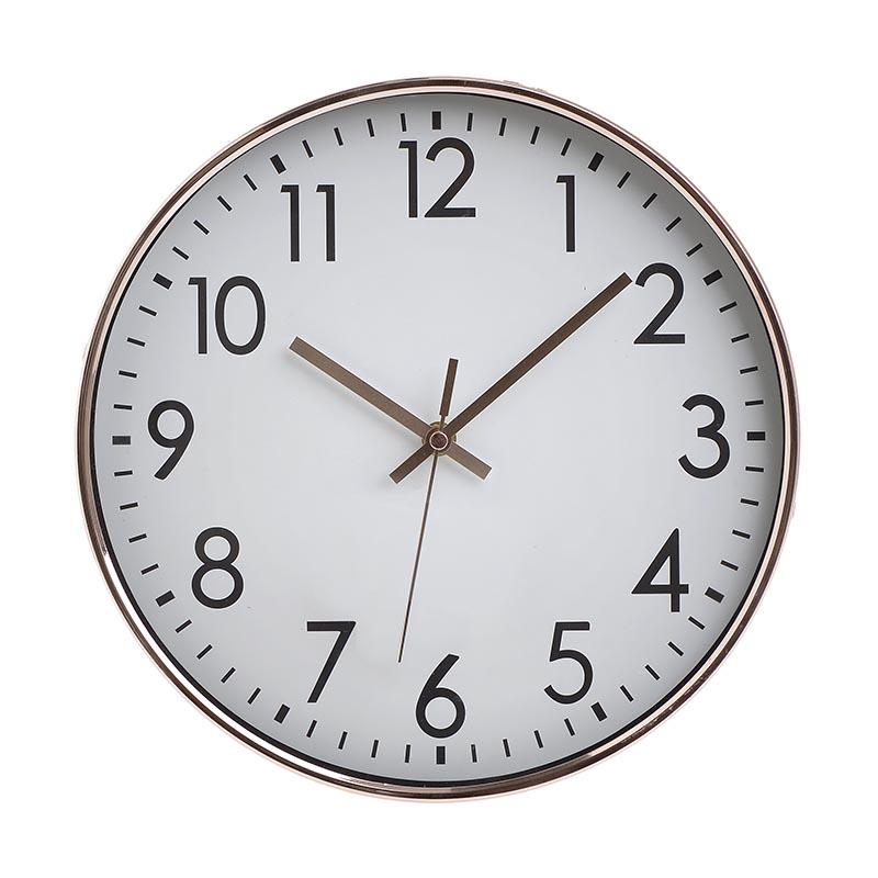 ΡΟΛΟΓΙΑ  INART ΡΟΛΟΙ ΤΟΙΧΟΥ PL ΜΠΡΟΝΖΕ ΛΕΥΚΟ Διαστάσεις (ΜΠΥ)30.5εκ x 4εκ x 30.5εκ