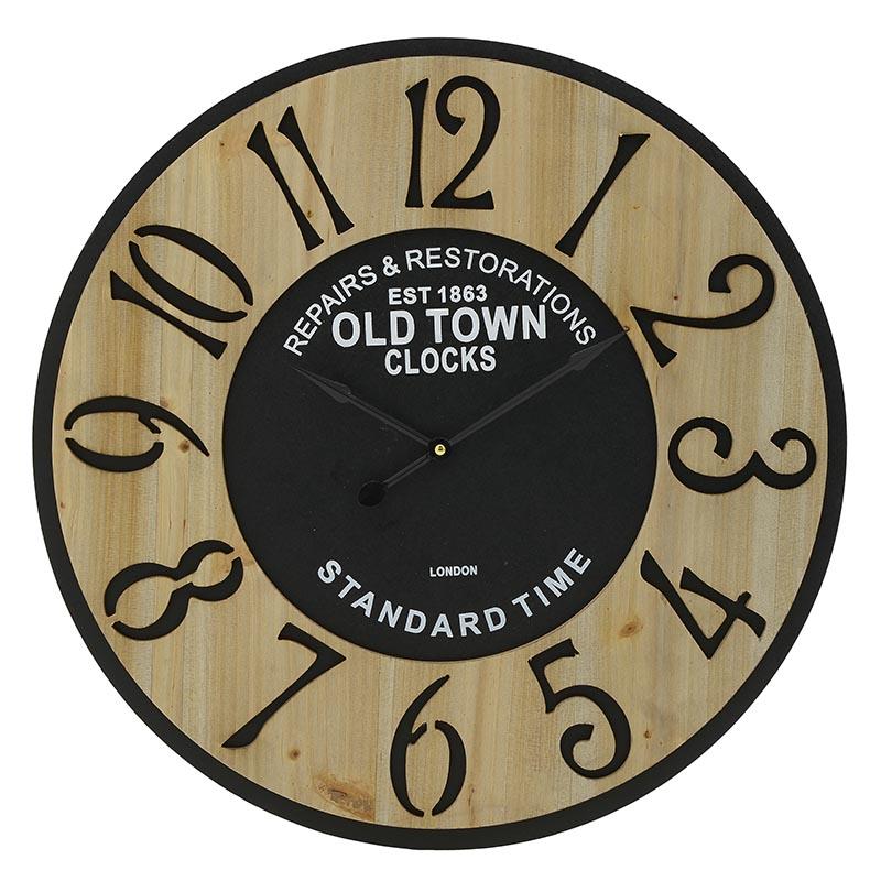 ΡΟΛΟΓΙΑ  INART Ρολόι Τοίχου ΜΕΤΑΛΛΙΚΟ ΜΑΥΡΟ NATURAL Διαστάσεις (ΜΠΥ)58εκ x 3εκ x 58εκ