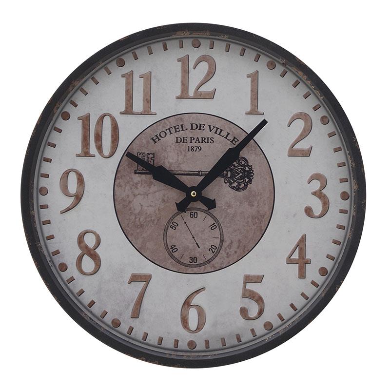 ΡΟΛΟΓΙΑ  INART ΡΟΛΟΙ ΤΟΙΧΟΥ ΜΕΤΑΛΛΙΚΟ ΜΑΥΡΟ ΛΕΥΚΟ Διαστάσεις (ΜΠΥ)46εκ x 6εκ x 46εκ