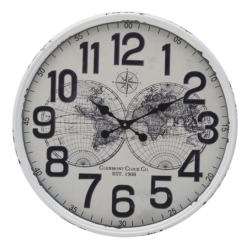 ΡΟΛΟΓΙΑ  INART ΡΟΛΟΙ ΤΟΙΧΟΥ ΜΕΤΑΛΛΙΚΟ ΛΕΥΚΟ ΜΑΥΡΟ Διαστάσεις (ΜΠΥ)60εκ x 6εκ x 60εκ