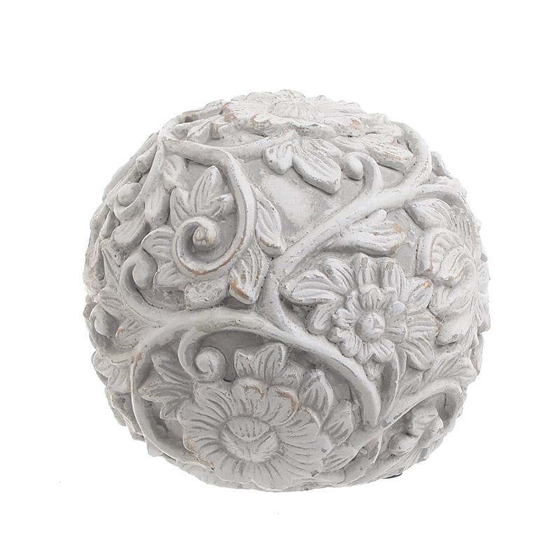INART Διακοσμητική Μπάλα ΤΣΙΜΕΝΤΕΝΙΑ ΑΝΤΙΚΕ ΓΚΡΙ Διαστάσεις (ΜΠΥ)14εκ x 14εκ x 13εκ