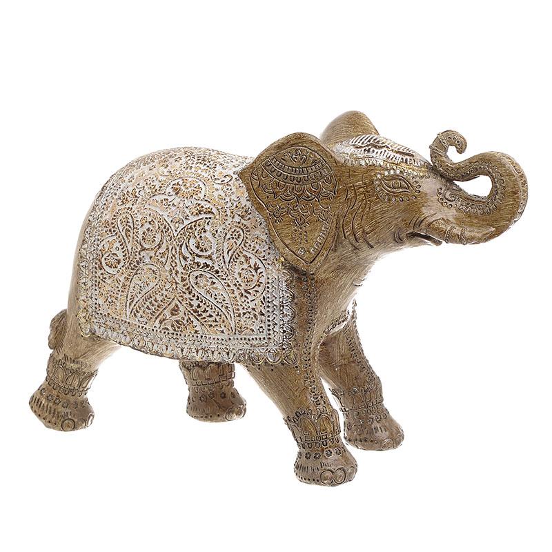 INART Διακοσμητικός Ελέφαντας POLYREZIN ΑΝΤΙΚΕ ΧΡΥΣΟ Διαστάσεις (ΜΠΥ)31εκ x 10εκ x 21εκ