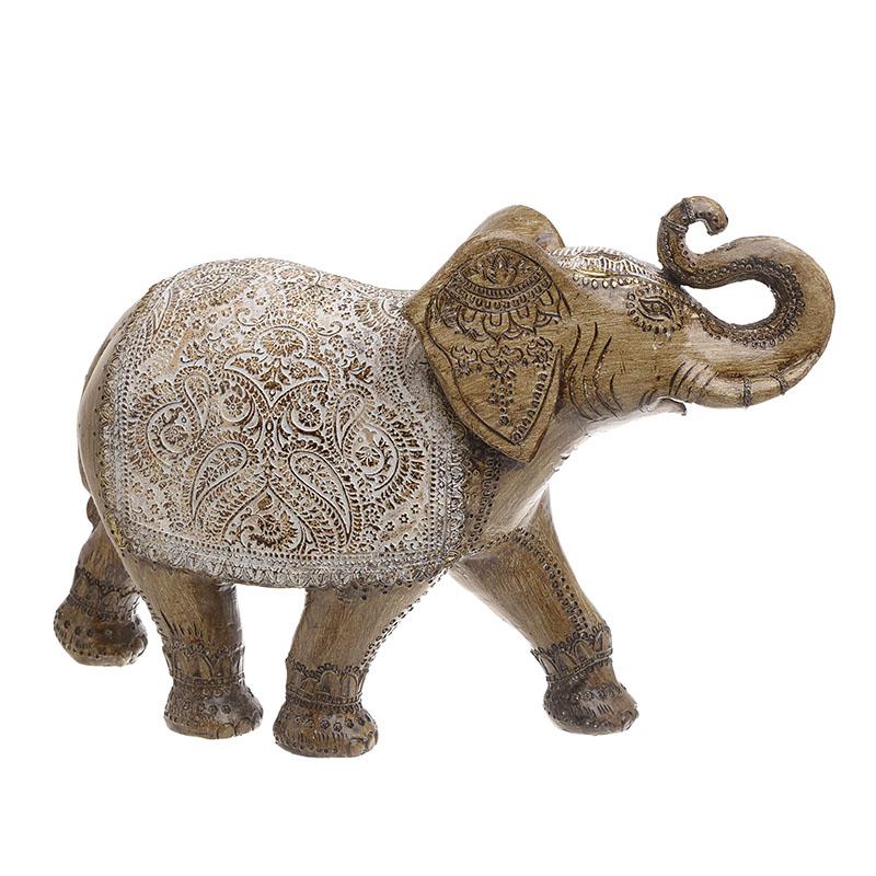 INART Διακοσμητικός Ελέφαντας POLYREZIN ΑΝΤΙΚΕ ΧΡΥΣΟ Διαστάσεις (ΜΠΥ)37εκ x 13εκ x 27εκ