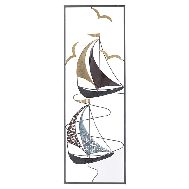 ΠΙΝΑΚΕΣ INART ΔΙΑΚΟΣΜΗΤΙΚΟ ΤΟΙΧΟΥ ΜΕΤΑΛΛΙΚΟ ΚΑΡΑΒΙΑ Διαστάσεις (ΜΠΥ)30εκ x 4εκ x 90εκ